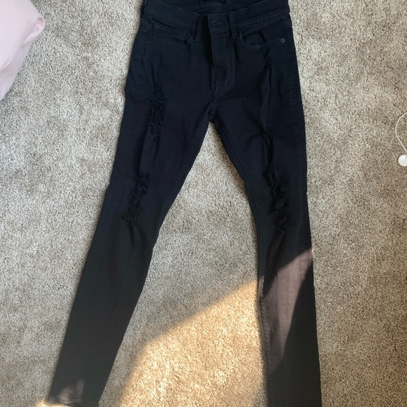 Express ripped skinny jeans